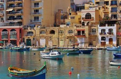 View from a pier in Malta